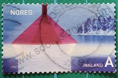 Sello Noruega 2007 Faro Tungenes