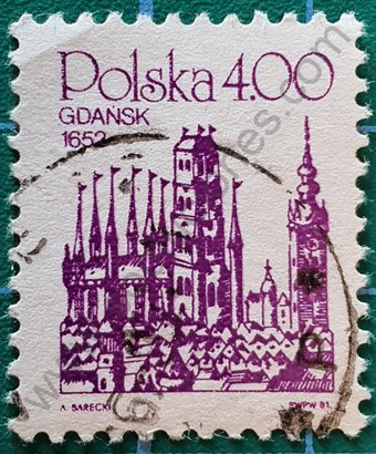 Sello Polonia 1981 Gdansk de 1652