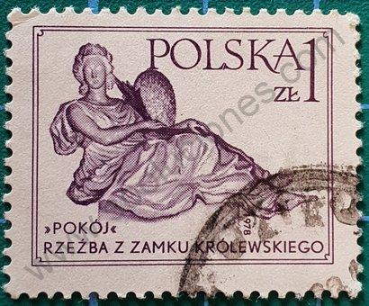 Sello Polonia 1978 Escultura Paz