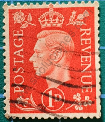 Sello Reino Unido 1937 Rey George VI 1D