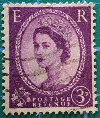 Sello Reino Unido 1958 Elizabeth II 3d