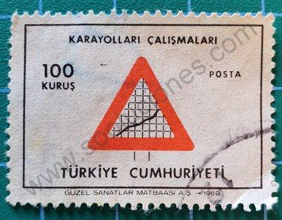 Sello Turquía 1969 Desarrollo 100 Kuruş