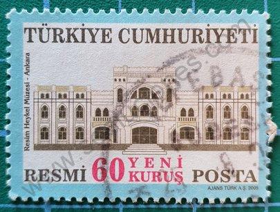 Sello Turquía 2005 Museo de la escultura