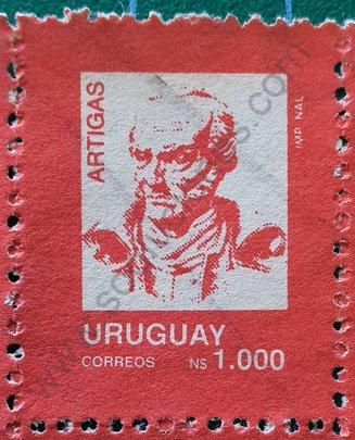 Sello Uruguay 1990 General José Artigas