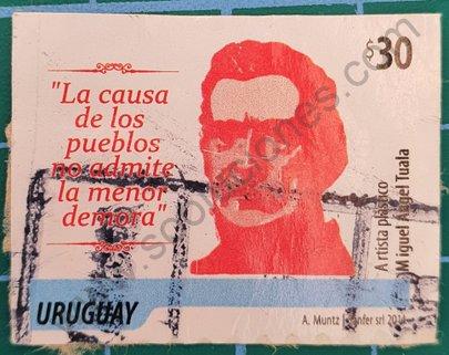Sello Uruguay 2014 250 aniversario nacimiento Artigas