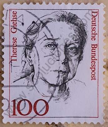 Sello Alemania 1988 Therese Giehse - Actriz