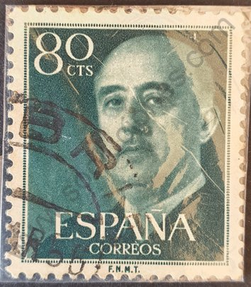 Sello Francisco Franco 80 cts España 1955