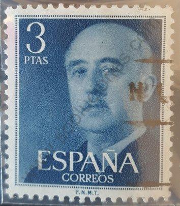 Sello 3 ptas Franco 1955 - España