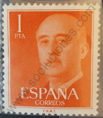 Sello Franco 1 Pta 1955 - España