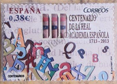 Sello Centenario de la Real Academia Española - 2014