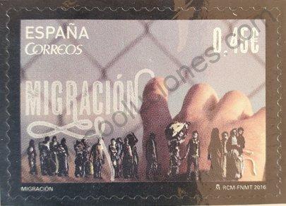 Sello España 2016 Migración