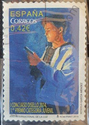 Sello España 2015 Año internacional de la luz