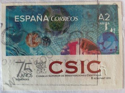 Sello 75 aniversario CSIC - España 2015