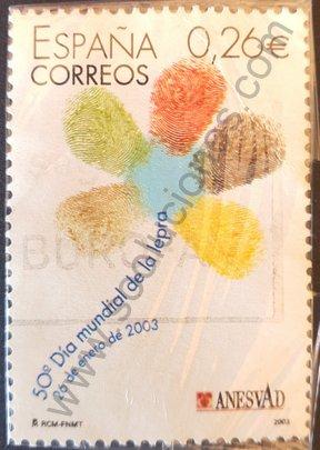 Sello España 2003 Lepra día mundial