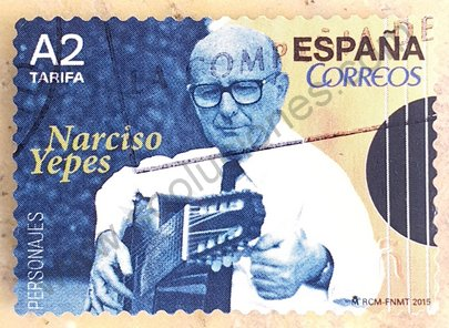 Sello España 2015 YEPES Narciso