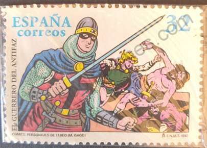 Sello Guerrero del Antifaz - España 1997