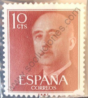 Sello Franco 10 cts año 1955 - España