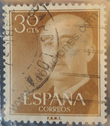 Sello Franco 30 cts 1955 - España