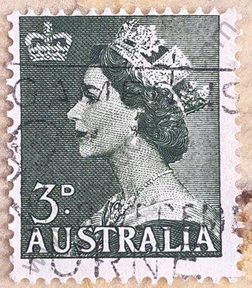 Sello Australia 1953 Elizabeth II 3d
