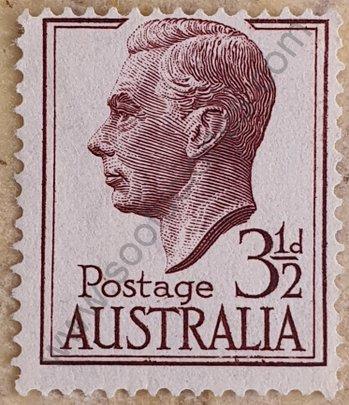 Sello Australia 1951 George VI - 3½ d