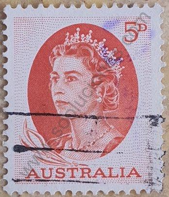 Sello Australia 1965 Elizabeth II - 5 d