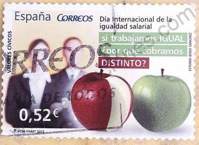 Sello Día de la Igualdad - España 2013