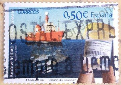Sello España 2011 Biodiversidad y Oceanografía