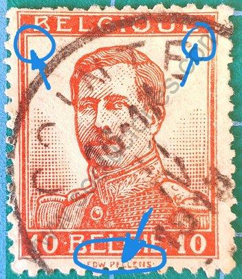 Sello Bélgica 1912 Rey Alberto I - 10c