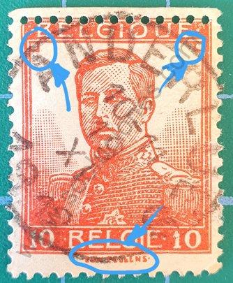 Sello Bélgica 1912 Alberto I - 10c