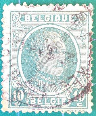 Sello Bélgica 1922 Alberto I - 10c