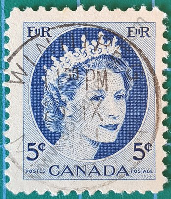 Sello Canadá 1954 Elizabeth II - 5c