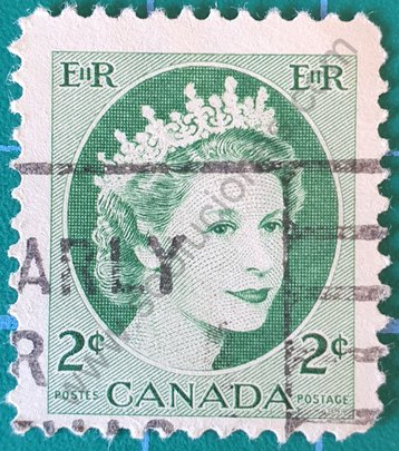 Sello 1954 Canadá - Elizabeth II - 2 c