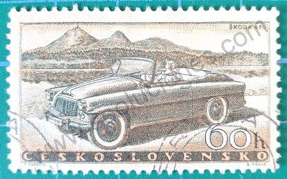 Sello Checoslovaquia 1958 Skoda 450