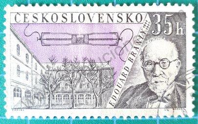 Sello Checoslovaquia 1959 Edouard Branly