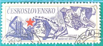 Sello Checoslovaquia 1979 Movimiento de paz - 30 aniversario