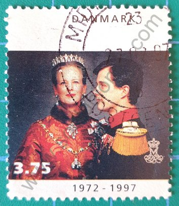 Sello Dinamarca 1997 Margarita y Frederik - 3,75 dkr