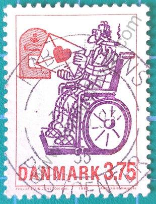 Sello Dinamarca 1992 Carta de amor