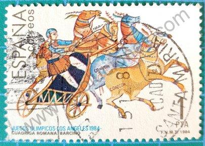 Sello España 1984 Cuadriga romana