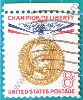 Sello Estados Unidos 1960 Gustav Mannerheim 8c