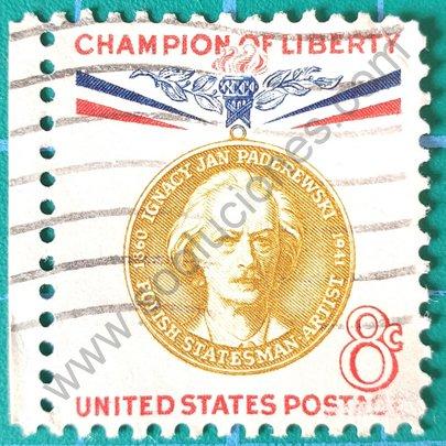 Sello Ignacy Paderewsky 8c - Estados Unidos 1960