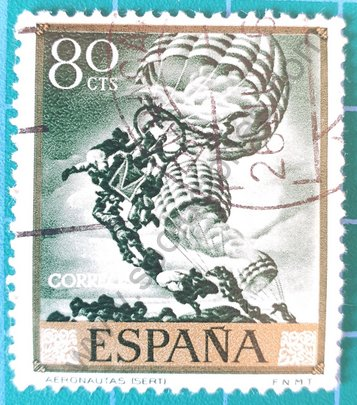 """Sello España 1966 """"Los Argonautas"""" de Sert"""