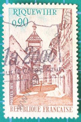 Sello Francia 1971 Riquewihr