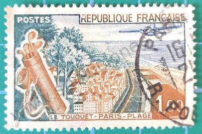 Sello Francia 1962 Le Touquet