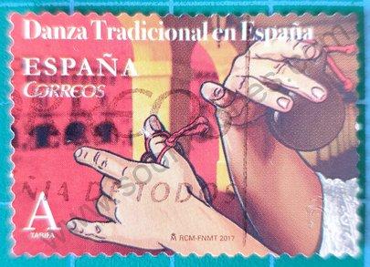 Sello España 2017 Manos tocando castañuelas