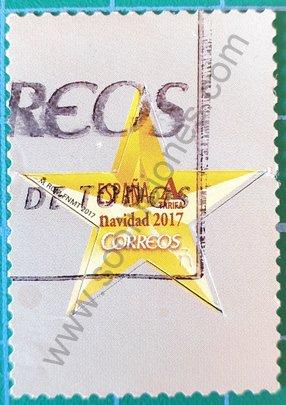 Sello España 2017 Estrella troquelada