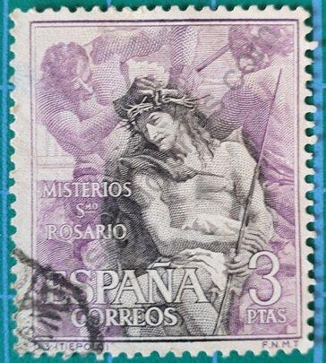 Sello España 1962 Corona de Espinas 3 Pta