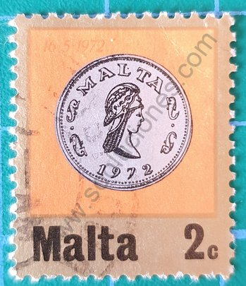 Sello Malta 1972 Pentesilea de 2cts.