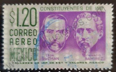 Sello México 1964 Leon Guzman e Ignacio Ramirez