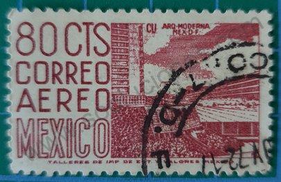 Sello México 1971 Centro deportivo ciudad universitaria