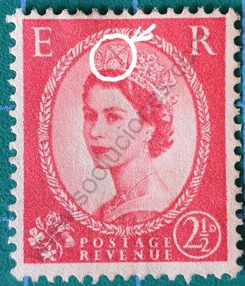 Sello 1958 Reino Unido - Elizabeth II - 2½ d